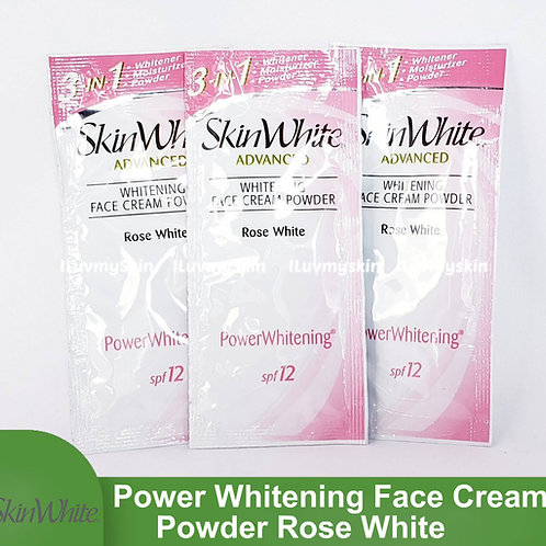 SkinWhite Advanced Power Whitening Face Cream Powder ROSE WHITE  7g (3 Sachet)