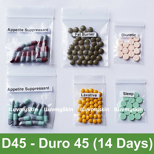 Bkk D45 (DURO 45) Slimming Diet Pills from Thailand  (14 days)