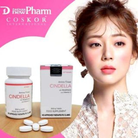 CINDELLA Tablet Glutathione 800mg with Vitamin C with Authenticity Seal