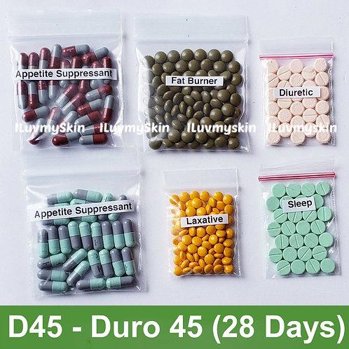 Bkk D45 (DURO 45) Slimming Diet Pills from Thailand  (28 days)