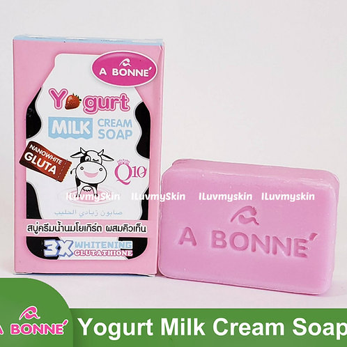 A BONNE Yogurt Milk Cream Soap 3X Whitening 90g