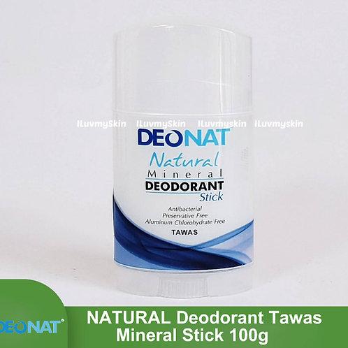 Deonat Natural Mineral Deodorant Stick Tawas 100g