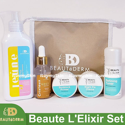 Beautederm Beaute L' Elixir Set (with Jeune Cleanser and Cristaux)