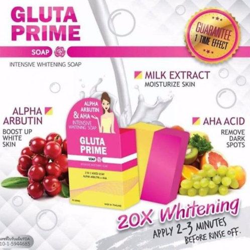 Gluta Prime Soap Intensive Whitening Soap 70g (Alpha Arbutin + AHA)