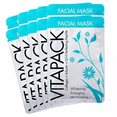 Vitapack Collagen + Arbutin + Q10 Perfecting Peptide Facial Mask for Whitening