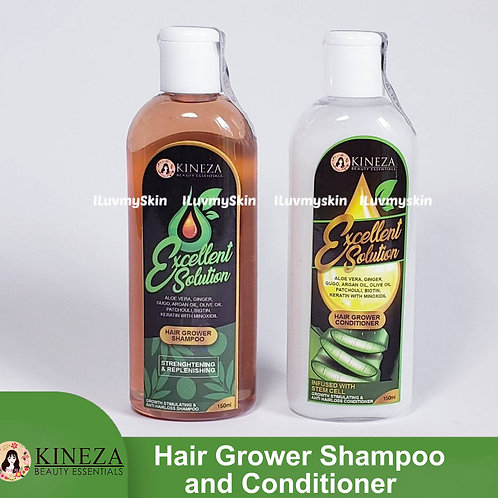 Kineza Excellent Solution Hair Grower SHAMPOO 150ml and CONDITIONER 150ml