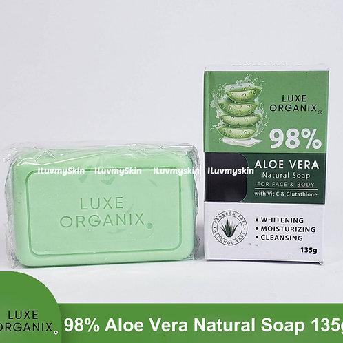 Luxe Organix Aloe Vera Natural Soap with Vitamin C and Glutathione 135g