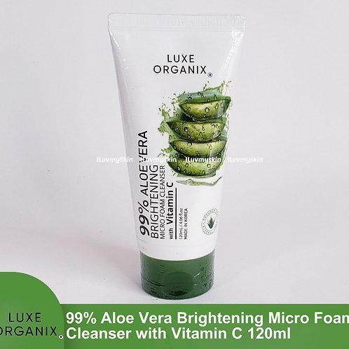 Luxe Organix 99% Aloe Vera Brightening Micro Foam Cleanser with Vitamin C 120ml