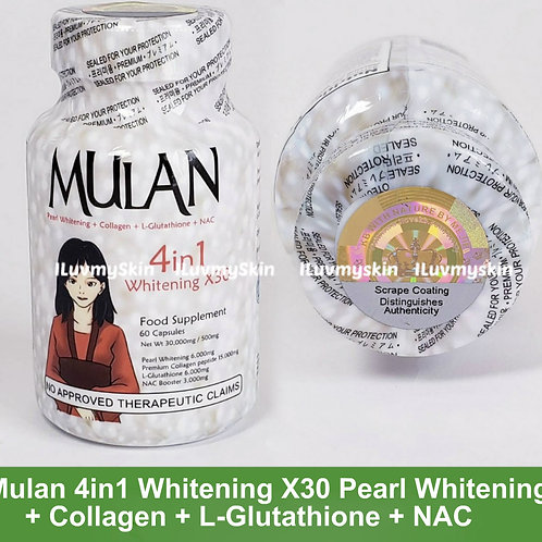 Mulan 4in1 Whitening X30 Pearl Whitening + Collagen (60 Capsules)