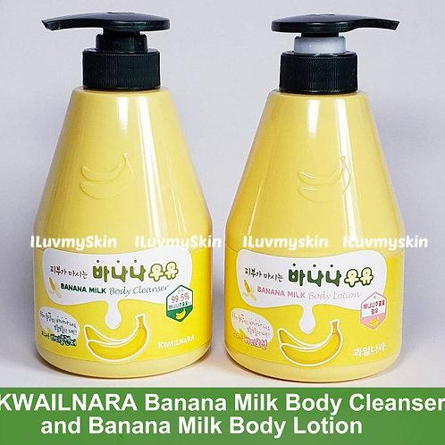 KWAILNARA Banana Milk Body Cleanser and Banana Milk Body Lotion COMBO