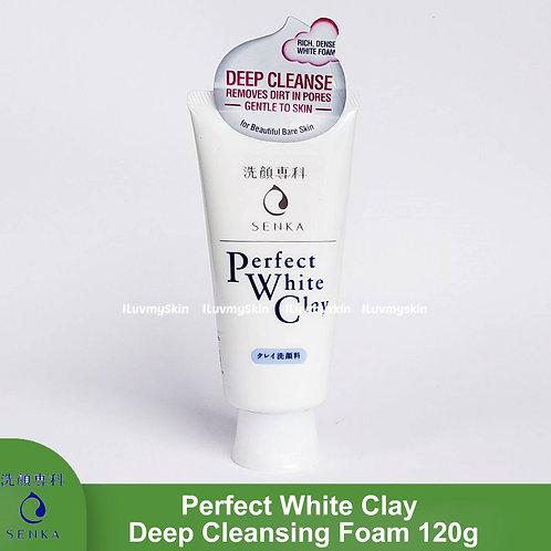 Senka Perfect White Clay Deep Cleansing Foam Facial Cleanser 120g