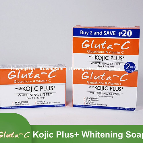 Gluta-C Kojic Plus+ Whitening System Face and Body Soap