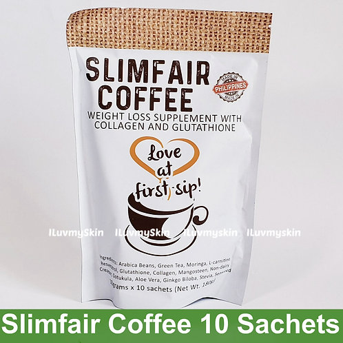 Slimfair Coffee with Collagen and Glutathione 10 Sachets