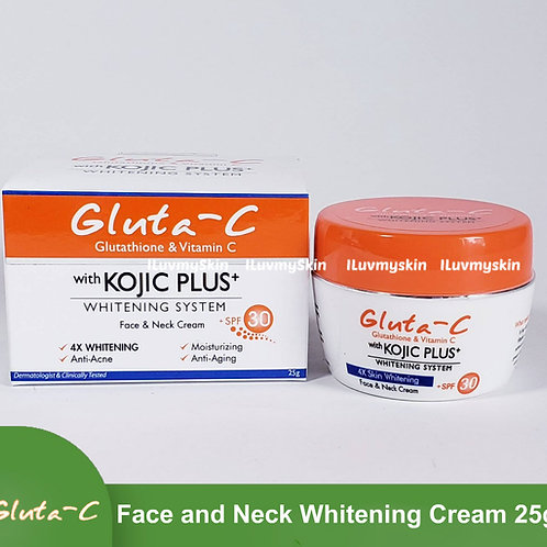 Gluta-C Kojic Plus+ Whitening System Face and Neck Cream with SPF30 (25g)