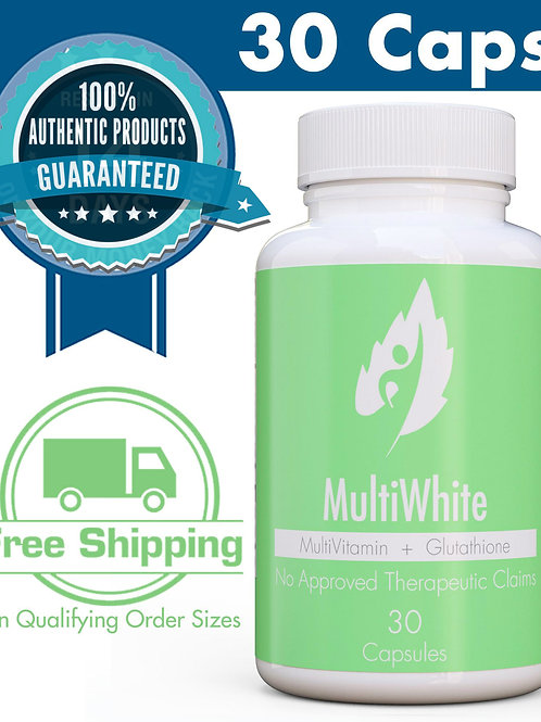 Nutrition MultiWhite MultiVitamin + Glutathione (30 Caps)