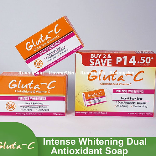 Gluta-C Intense Whitening with Dual Antioxidant Defense Face and Body Soap