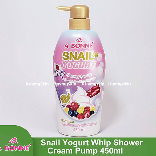 A Bonne Snail Yogurt Whip Shower Cream Pump 450ml