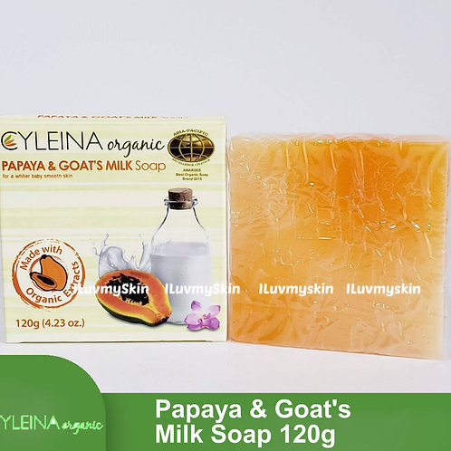 Cyleina Organic Papaya and Goats Milk Soap 120g