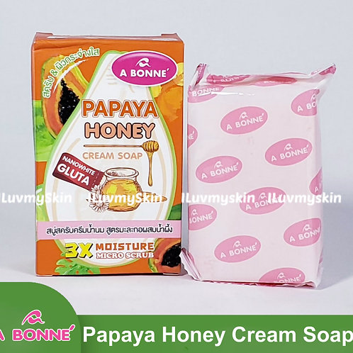 A BONNE Papaya Honey Cream Soap 90g