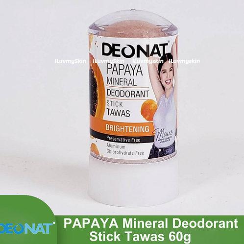 Deonat Papaya Mineral Deodorant Stick Tawas 60g