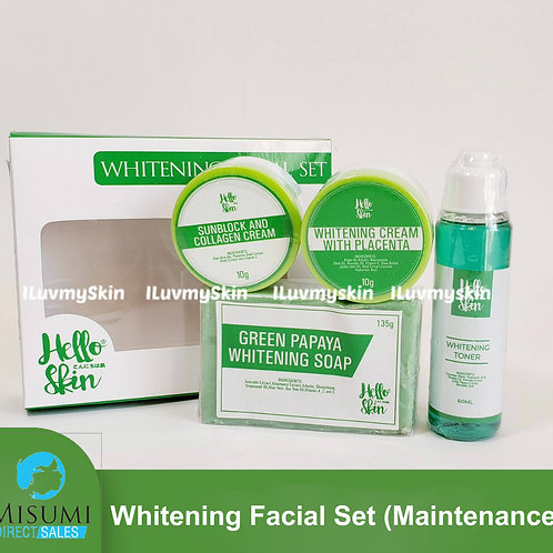 Misumi Green Whitening Facial Set (Maintenance Set)