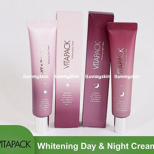 Vitapack  Whitening Day Cream 40ml and  Whitening Night Cream 40ml