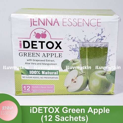 Jenna Essence Slimming Detox GREEN APPLE iDRINK (12 Sachets)