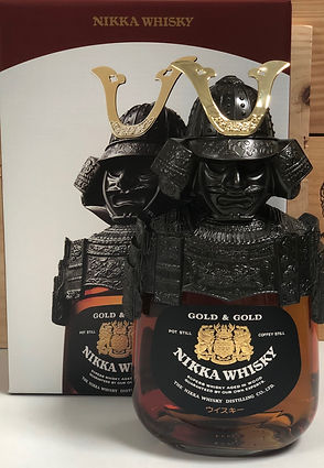 nikka whisky en packaging armure de samurai