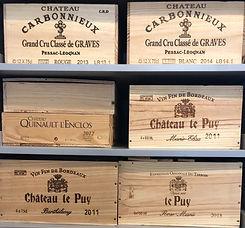 caisses grands crus vins