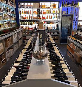 rayon vins de la cave à vin versus