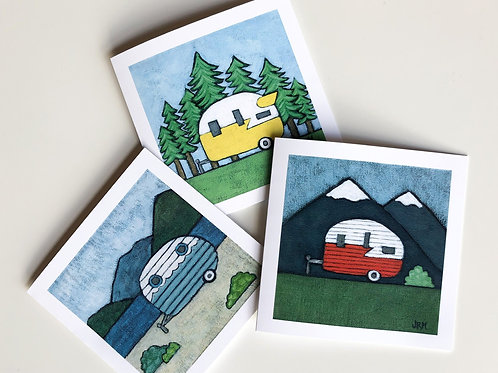 Camper Note Cards - Set of Two