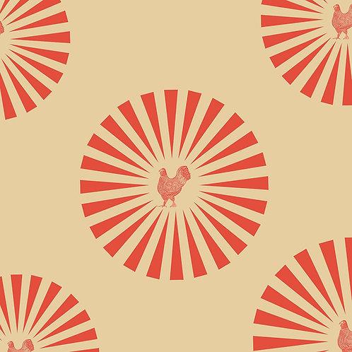 STAR HEN | POPPY RED ON NUDE
