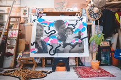 Painting on Photo Canvas