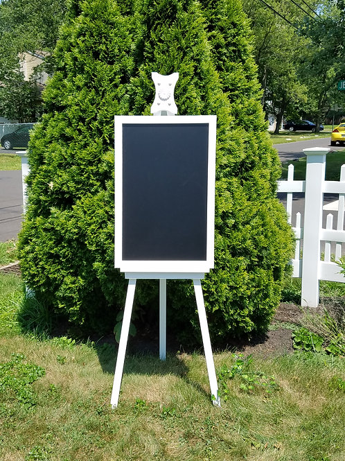 Chalk Board/White Board Sign- White Framed