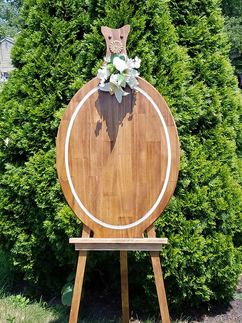 Wooden Oval with White Border - Board/Sign