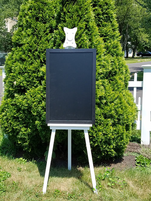 Chalk Board/White Board Sign -Black Framed