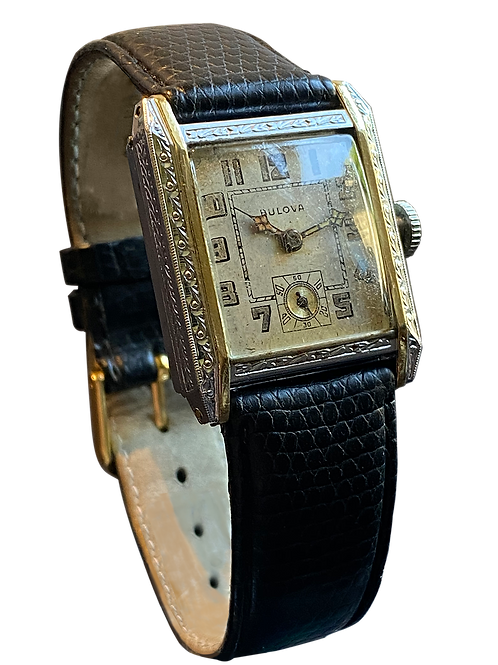 Bulova Senator Gents Deco Style Watch