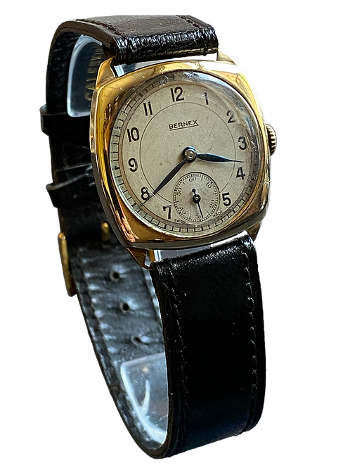 Bernex 1950's 9ct Yellow Gold Gents Dress Watch