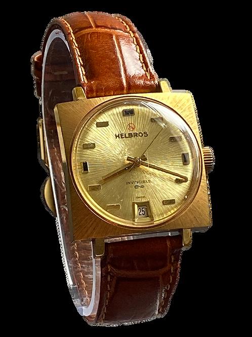 Helbros Invincible Gents Dress Watch 1970's