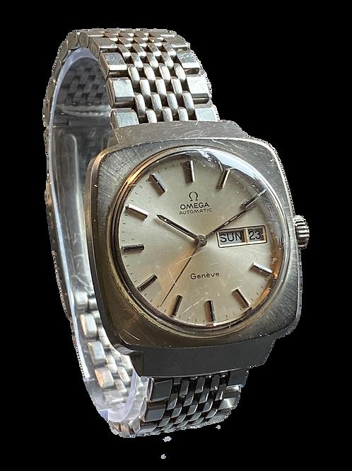 Omega Geneve Gents Automatic Day/Date c.1974 on Omega Bracelet