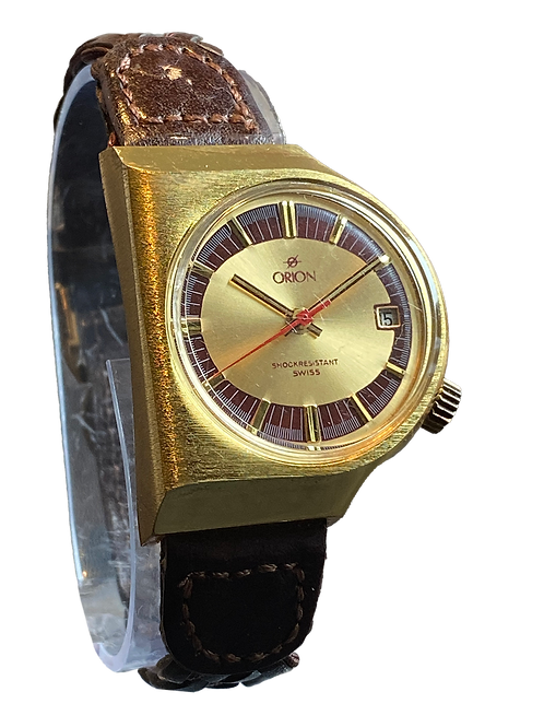 Orion Gents Swiss Gents Dress Watch 1970's New Old Stock