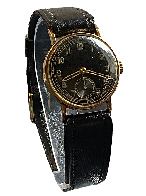 Unbranded Gents 9ct Gold  Military Watch 1939