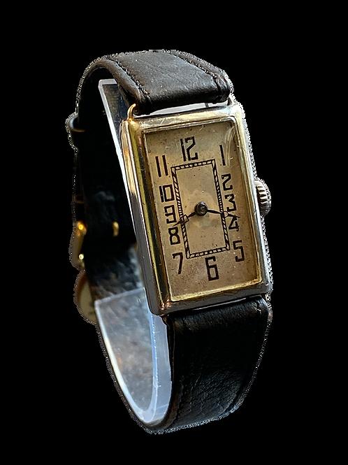 1920's Gallet & Cie  Mars Ladies Sterling Silver Mars Watch