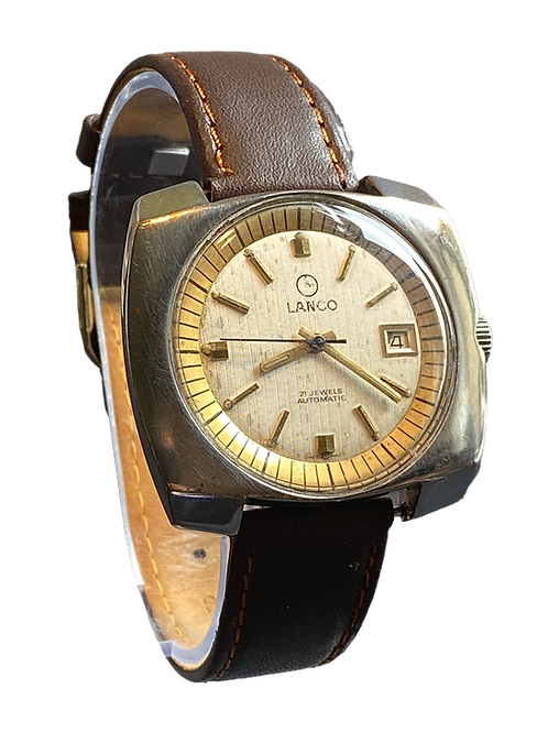 Lanco Automatic large Gents Dress Watch 1970's