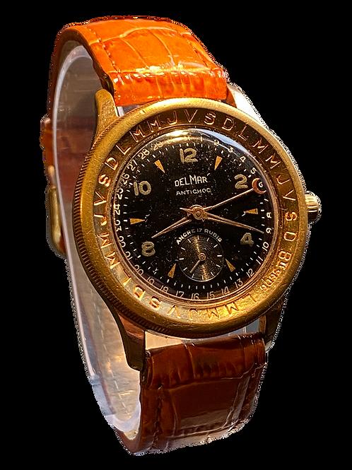 1950's Delmar Gents Calendograph Pointer Watch