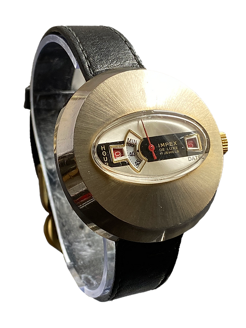 Impex Gents 1970's Jump Hour Watch