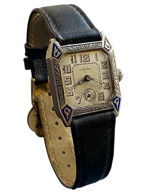 Fontain Deco Style Gents Dress Watch c1928