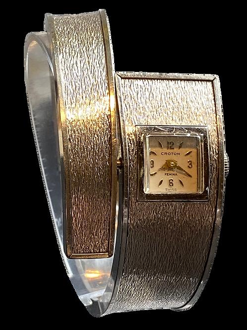 Croton Femina 1950's Wrap around  Ladies Bangle Watch