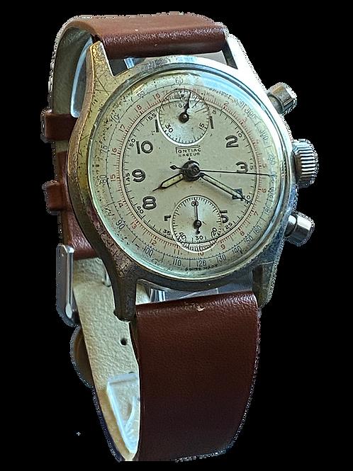 Pontiac Negeur Chronograph c.1950 Gents Watch