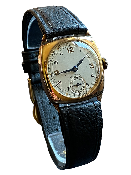 9ct Yellow Gold Rotary Gents Dress Watch